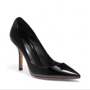 Coach Lizzie Patent Leather Heels Pointy Black